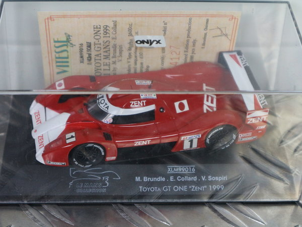 Toyota GT-ONE #1 Le Mans 1999 - Onyx (1/43) Limited Edition